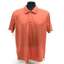 Magellan Outdoors Polo Dry Fit Shirt Mens Size M Medium Orange Short Sleeve