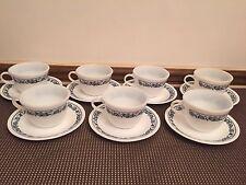 "Corelle ""BLUE ONION"" Dinnerware ~ Set of 7 ~ Pyrex Cups & Saucers"