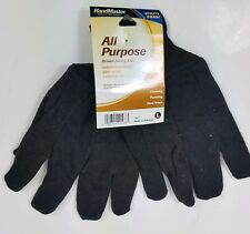 Handmaster Work Gloves Brown All Purpose Utility Grade Painting Cleaning Size L