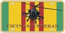 Vietnam Veteran Helicopter Novelty Aluminum Car License Plate P01