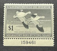 WTDstamps - #RW14 1947 Plate# - US Federal Duck Stamp - Mint OG NH