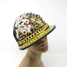 Embellished One of a Kind Bling Button Studs Hip Hop Club Raver Baseball Hat Cap