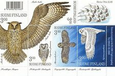 Finland 1998 MNH Sheet - 4 Owls - Eagle Owl Bubo Bubo Snowy Owl - Fauna - Birds