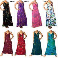 ANGELA NEW Tie Dye Women Long Maxi Dress Boho Hippie Summer Size M - XXXL Plus