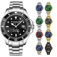 Stuhrling 3950 para hombre depthmaster Aquadiver Japonés Cuarzo Reloj de buceo 10 ATM