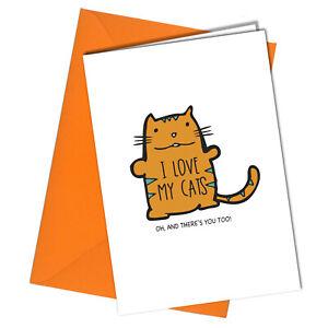 #1226 Love Cats BIRTHDAY / VALENTINE Card Rude greetings cards funny humour joke
