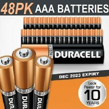 48 Pack Duracell AAA Batteries Genuine Alkaline Dura Lock Power 10 Years