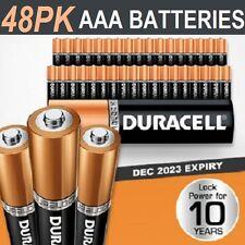 Duracell AAA Batteries x 48 pack New Genuine Alkaline Dura Lock Power 10 Years
