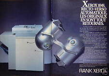 PUBLICITÉ 1985 RANK XEROX 1048 RECTO-VERSO AUTOMATIQUE - ADVERTISING