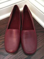 Easy Spirit Women's Yonders Slip-On Loafers Red Leather Size 10 M-Excellent!