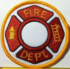 FIRE DEPARTMENT FIREFIGHTER LOGO # 1 Iron-On Patch Emblem Gold Border