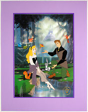 "Disney Store Lithograph SLEEPING BEAUTY 1997 11"" X 14"" Litho with Mat & Envelope"