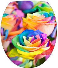 Sticker abattant de WC Palmier Fleurs multicolore 35x42cm Réf 2150