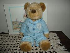 La Senza Silk & Satin Lingerie 2000 PICASSO Christmas Bear Blue Pajamas 17 Inch
