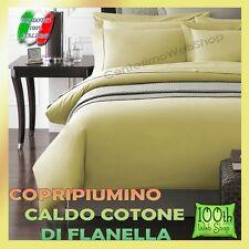 COPRIPIUMINO FLANELLA MATRIMONIALE 100% COTONE GIALLO TINTA UNITA 65CPRFLATUG2P