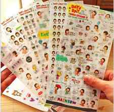 6 sheet girl diary album calendar DIY stationery decoration transparent sticker
