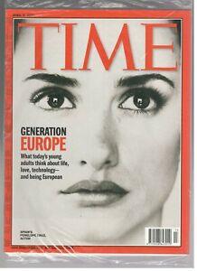 Nouveau Sealed Time Magazine Avril 2, 2001 Penelope Cruz Actrice Generation