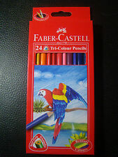 Pencil 24 Faber Castell 24 Tri Colour Pencils Set Triangular Grip Colo Free Ship