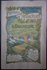 MANUFACTURE PAPIERS PEINTS L DUCHESNE/JOUANNY ECHANTILLONS CATALOGUE PUBLICITE