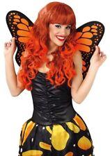 Damen Gelb Monarch Butterfly Flügel Kostüm Kleid Outfit Zubehör