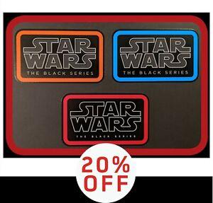 "SAVE 20%!! Set of3 Hasbro STAR WARS ""The Black Series"" toy logovinyl stickers"