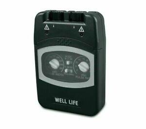 Well-Life 2 Kanal TENS Gerät komplett mit Elektroden -Einfache Anwendung-