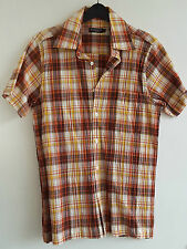 Duffer Of St. George Men's Short Sleeve Coloured Check Shirt, Small - PERFECT!