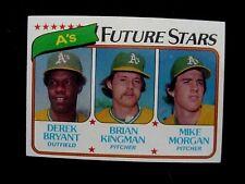 1980 TOPPS #671 A'S FUTURE STARS DEREK BRYANT BRIAN KINGMAN MIKE MORGAN RC NICE!
