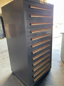"""Equipto 59"""" x 30"""" x 28"""" 12 Drawer Inudstrial Cabinet Tool Storage"""