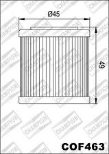 COF463 Ölfilter CHAMPION Aprilia450 SXV Super Moto4502010 2011 2012 2013
