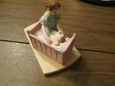 Norman Rockwell 'Little Mother' Figurine 1980 The American Family Series *Euc