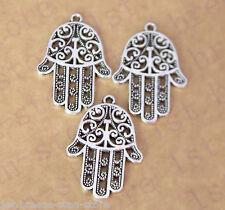 Wholesale 5pcs silver Hamsa Symbol alloy jewelry pendant hot