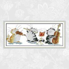 JOY SUNDAY BNIP THE CATS CONCERT cross Stitch Kit 14ct Size 50 x 21 cm