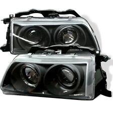 Spyder Projector Headlights - LED Halo - Black for 90-91 Honda Civic & CRX
