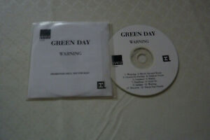 """GREEN DAY  """"WAITING"""" CD ALBUM PROMO CARDS SLEEVE"""