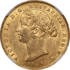 Australia 1864 Victoria Gold Sovereign NGC MS-60
