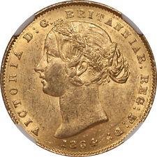 Australia 1864 Victoria Gold Sovereign NGC MS-60