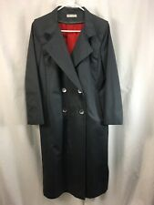 VTG Forecaster Trench Coat Jacket Women 7/8 Blue Gray Removable Wool Liner