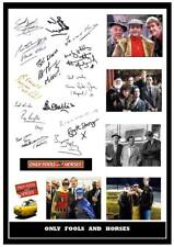 127. only fools and horses signed cast a4 photo  great gift +++++++++++++=
