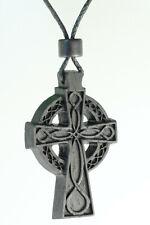 Irish bog oak Celtic Cross Wooden Pendant,Bog oak  Cross Necklace,celtic jewelry