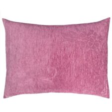 2pcs Chenille Pink (Cherry Begonia) 22x30 Floral Outdoor Patio Pillow Cover Sham