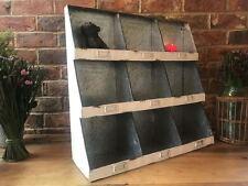 Industrial Metal Shelf Storage Cupboard Cabinet Pigeon Hole Wall Shelving Unit
