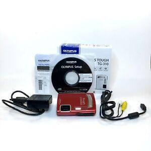 Olympus Tough TG-310 14.0MP Shockproof Waterproof Red Digital Camera SHIPS FREE!