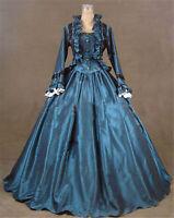 Gothic Punk Lolita Victorian Evening Party Civil War Dress Costume Halloween