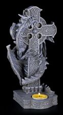 Porte-bougies - Dragon MONTE SUR CROIX GAUCHE - gothic fantasy Chandelier