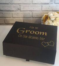 Groom box, Groom gift box, Large groom box, Husband to be gift, Wedding Keepsake