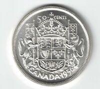 CANADA 1956 50 CENTS HALF DOLLAR QUEEN ELIZABETH II .800 SILVER COIN