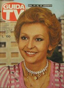 GUIDA TV 1977 N.34 ANNAMARIA GAMBINERI YVES MONTAND ENRICO MONTESANO TV PRIVATE