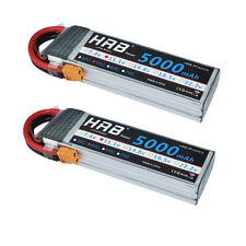 2x HRB RC LiPo Battery 11.1V 5000mAh 3S 50C 100C AKKU Traxxas Monster Car XT60
