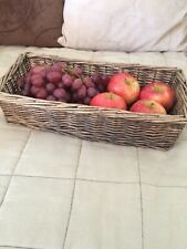 Wicker Storage Basket Rectangular Great Condition